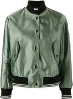 Miu Miu patch applique bomber jacket