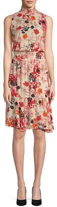 Nanette Lepore Mystique Sleeveless Smocked Dress