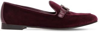 Salvatore Ferragamo 20MM TRIFOGLIO EMBELLISHED VELVET LOAFER