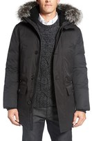 Mackage Men's 'Vaughn' Down Jacket With Genuine Fur And Shearling Trim