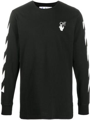 Off-White Agreement logo-print knitted jumper