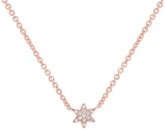 Ron Hami 14K Rose Gold Diamond Star Necklace - 0.03 ctw