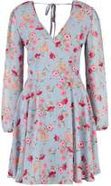 New Look BETTY FLORAL Summer dress blue pattern