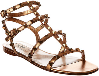 Valentino Rockstud Caged Leather Sandal