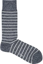 Reiss Reiss Grayson - Mottled Stripe Socks In Blue