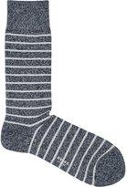 Reiss Reiss Grayson - Mottled Stripe Socks In Blue, Mens