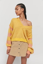 Urban Outfitters Florence Notched V-Neck Sweater