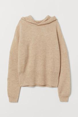H&M Wool-blend Hoodie - Beige
