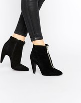 Bronx Suede Heeled Ankle Boots