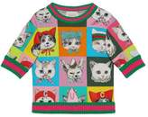 Gucci Children's pets print sweatshirt