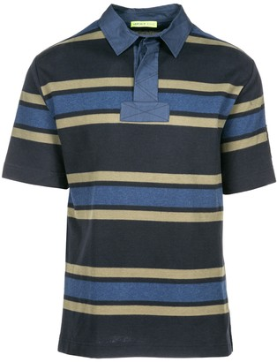 Versace Jeans Polo Collar Striped T-Shirt