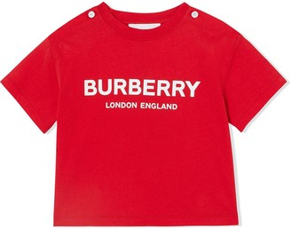 BURBERRY KIDS logo print T-shirt