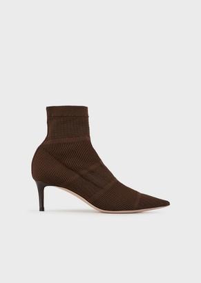 Giorgio Armani Sock Boots In Stretch Fabric