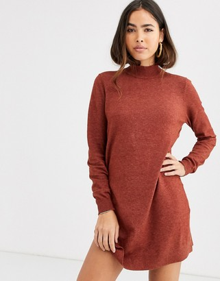 B.young high neck jumper dress-Copper