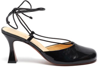 MANU Atelier Pina' lace up closed toe leather heels