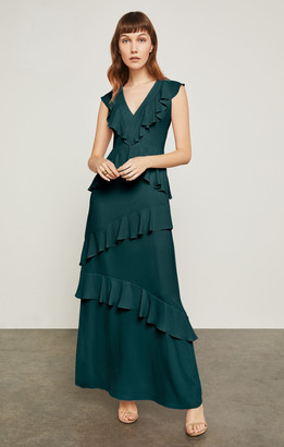 BCBGMAXAZRIA Ruffled Long Dress