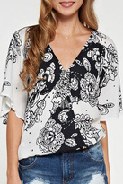 Love Stitch Lovestitch Self Tassel Surplice-Top