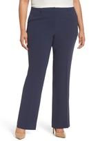 Sejour Plus Size Women's Flare Leg Trousers