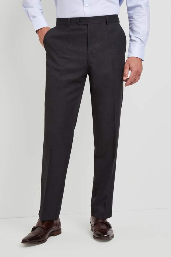 Moss Esq. Regular Fit Charcoal Pants