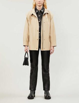 Sandro Hooded metallic trim jacket