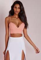 Missguided Thin Strap Bralet Pink