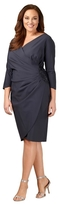 Alex Evenings 434118 Longsleeve Side Draped Plus Size Dress
