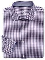 Bugatchi Long Sleeve Woven Cotton Check Shirt