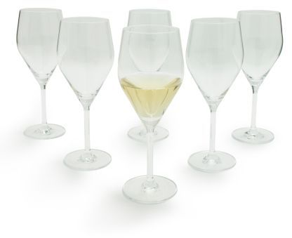 Schott Zwiesel Stemware Audience Full-Bodied White Wine Glasses, Set of 6
