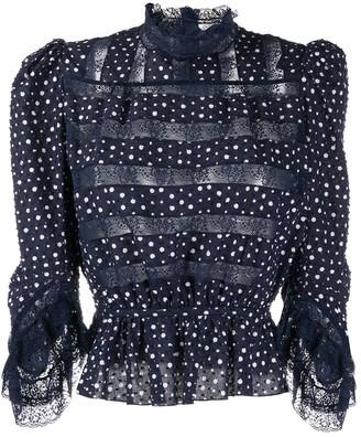 Marc Jacobs Floral Lace Detailed Blouse