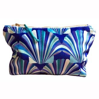 Chloe Croft London Limited Luxury Blue Velvet Cosmetic Bag