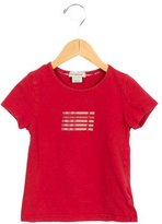 Burberry Girls' Short Sleeve Embellished Top