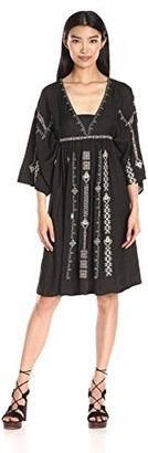 Greylin Women's Nadia Embroidered Midi Dress