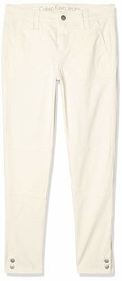 Calvin Klein Jeans Women's Garment Dyed Cargo Ankle Skinny Pant