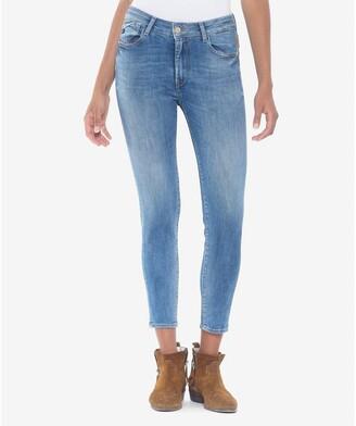 Le Temps Des Cerises Slim Fawn Jeans with High Waist