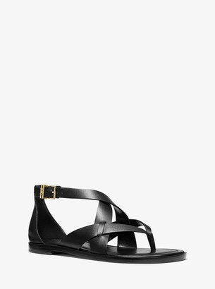 MICHAEL Michael Kors Shaw Leather Sandal