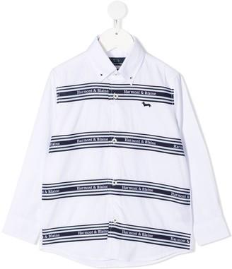 Harmont & Blaine Junior Stripe-Pattern Button-Down Shirt