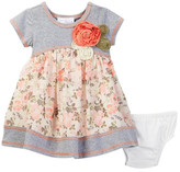Iris & Ivy Knit to Floral Dress (Baby Girls 0-9M)