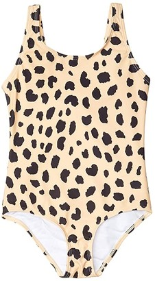 HUXBABY Animal Spot Swimsuit (Little Kids/Big Kids) (Sand) Girl's Swimsuits One Piece