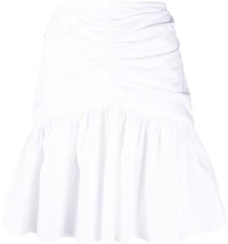 Brognano Ruffled-Hem Mini Skirt