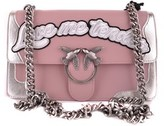 Pinko Women's Pink Leather Shoulder Bag.