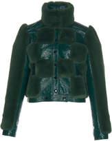 Courreges Short Classic Faux Fur Jacket