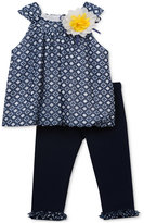 Rare Editions 2-Pc. Bubble Tunic & Leggings Set, Baby Girls (0-24 months)