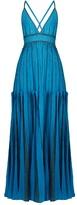 Missoni Halterneck lamé striped-knit gown