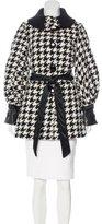 Dolce & Gabbana Short Houndstooth Coat