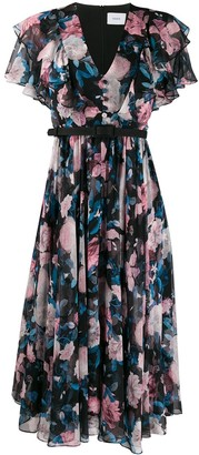 Erdem Floral Pleated Dress