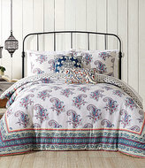 Jessica Simpson Gemma Floral-Bordered Paisley Cotton Comforter Mini Set