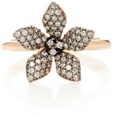 Aida Bergsen 14K Rose Gold Flora White Diamond Ring