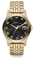 Marc by Marc Jacobs Henry Slim Goldtone Stainless Steel Bracelet Watch/Black