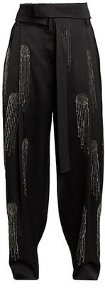 Stella McCartney Embellished Satin Pants