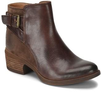 Comfortiva Mixed Leather Buckle Booties - Creston